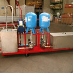 Recirculation water collection tanks with glycol and plate heat exchanger