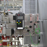 Dew point control system with direct reading on board and recording