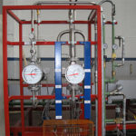 Flow rates reading on board with totalizator of nitrogen and hydrogen