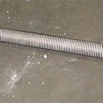 Heating element for continuous furnaces with muffle