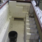 Example of refractory coating replacement